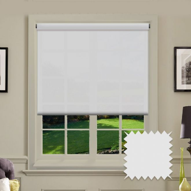 White Roller Blind - Astral Paper White Plain - Just Blinds